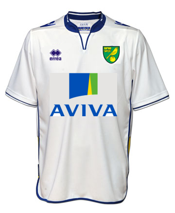 The new 2012/13 Norwich City away kit